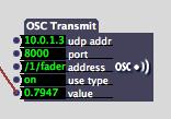 OSC Transmit