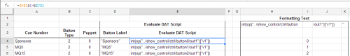 excel script formatting