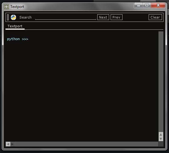 textport window
